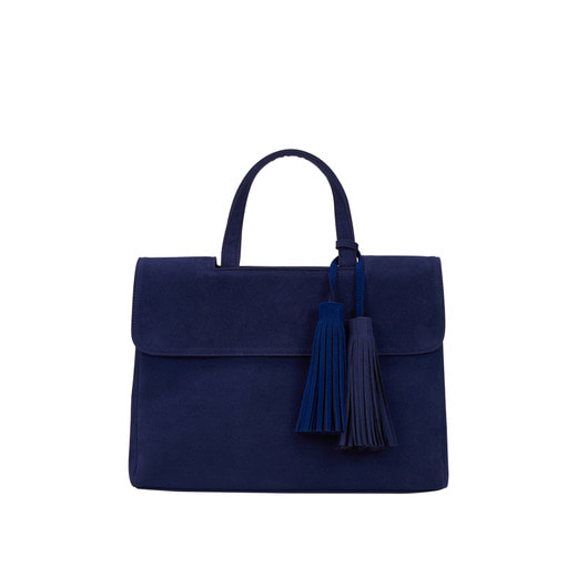 [콰니][THE HN] Gorgeous Suede Twin Tassel Royal Blue