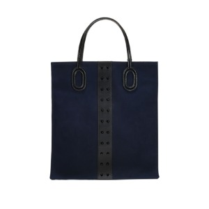 [콰니] O Handle Tote_Oxford Navy