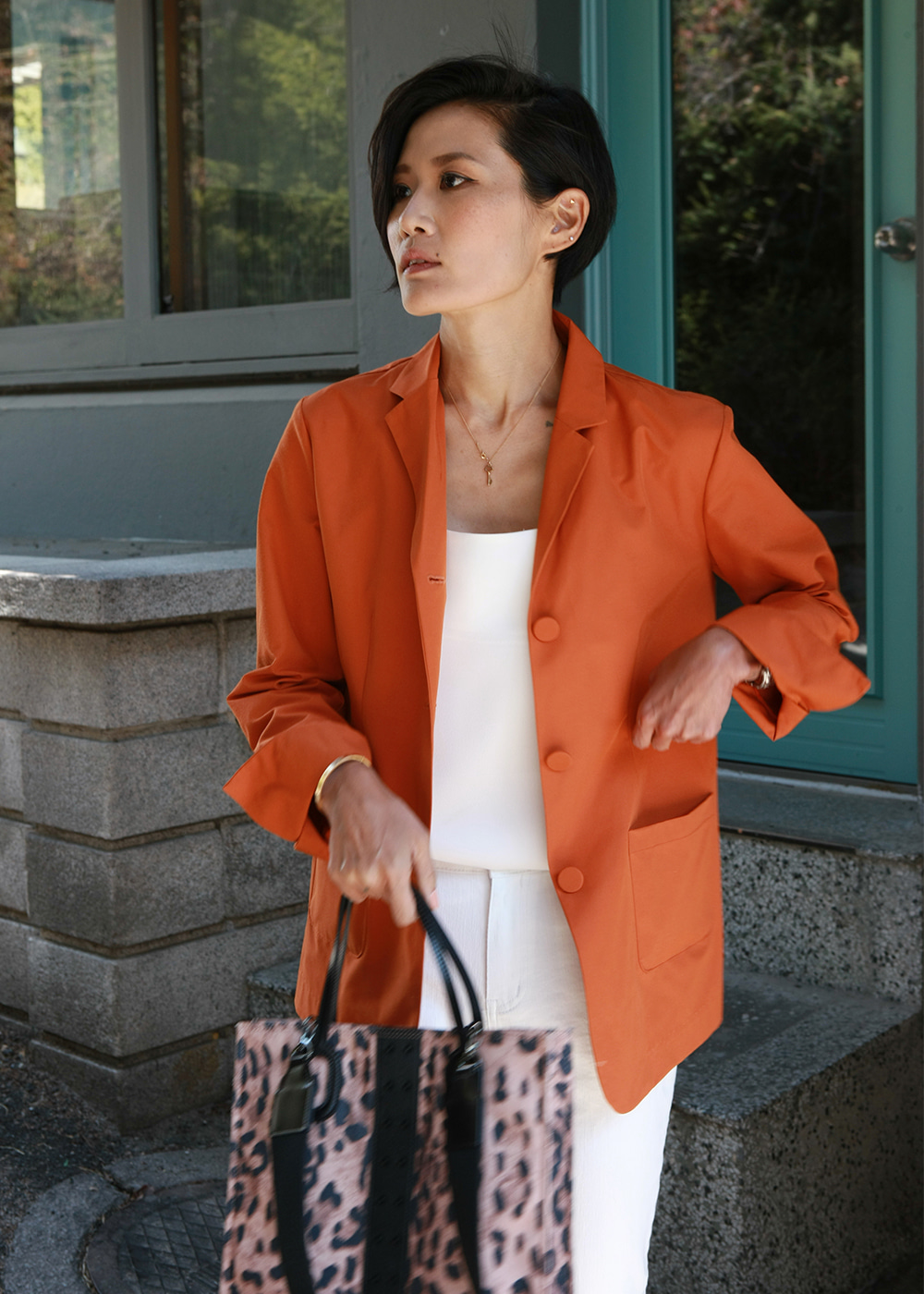Easy Match Spring Jacket Mandarin Orange